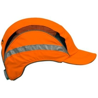 First Base Cap orange mit Reflexstreifen